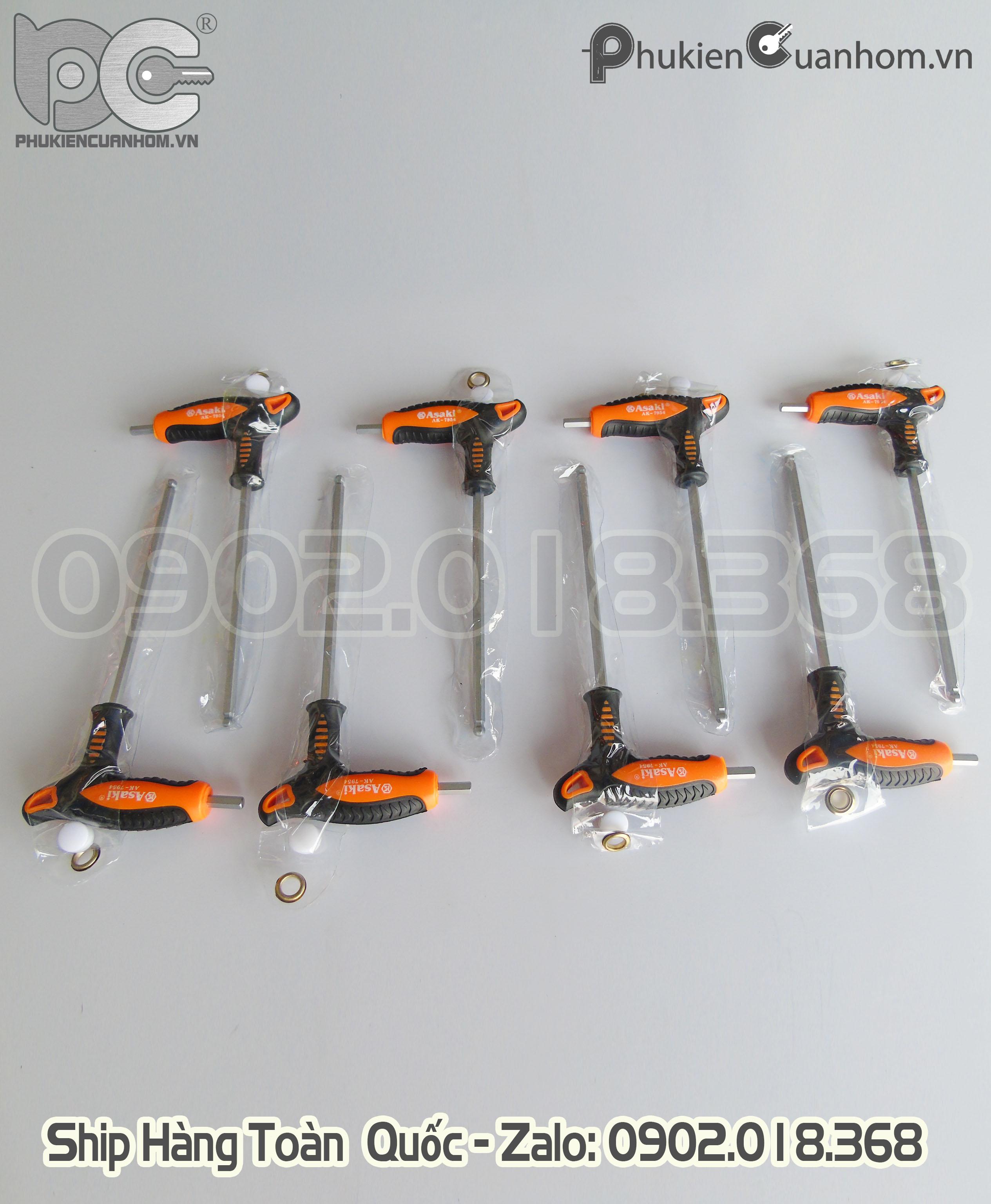 Lục giác 4 ly vặn bản lề 4D cửa nhôm Xingfa