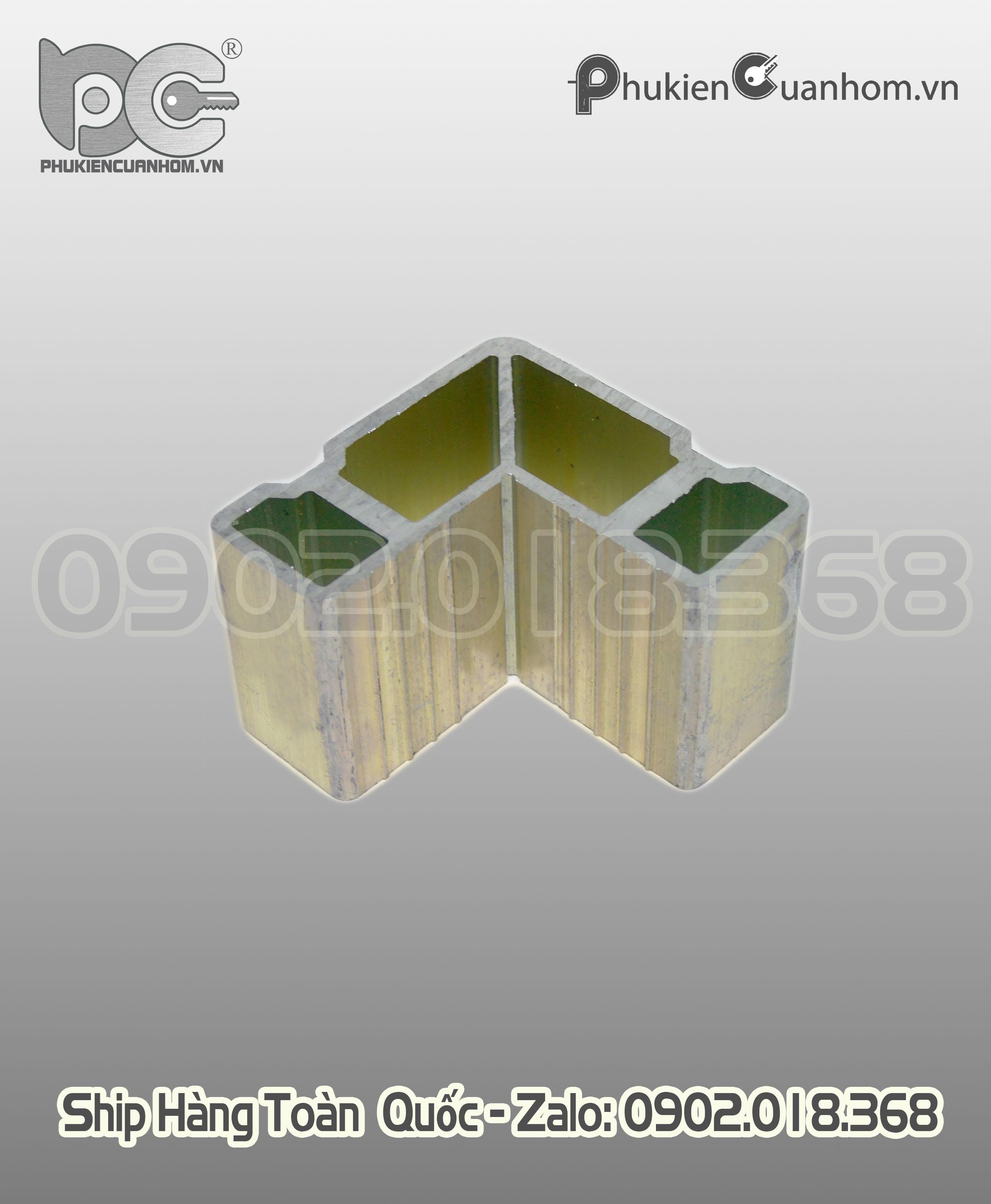 Ke ép góc có xử lý bề mặt cánh cửa sổ mở nhôm Xingfa hệ 55 C8092