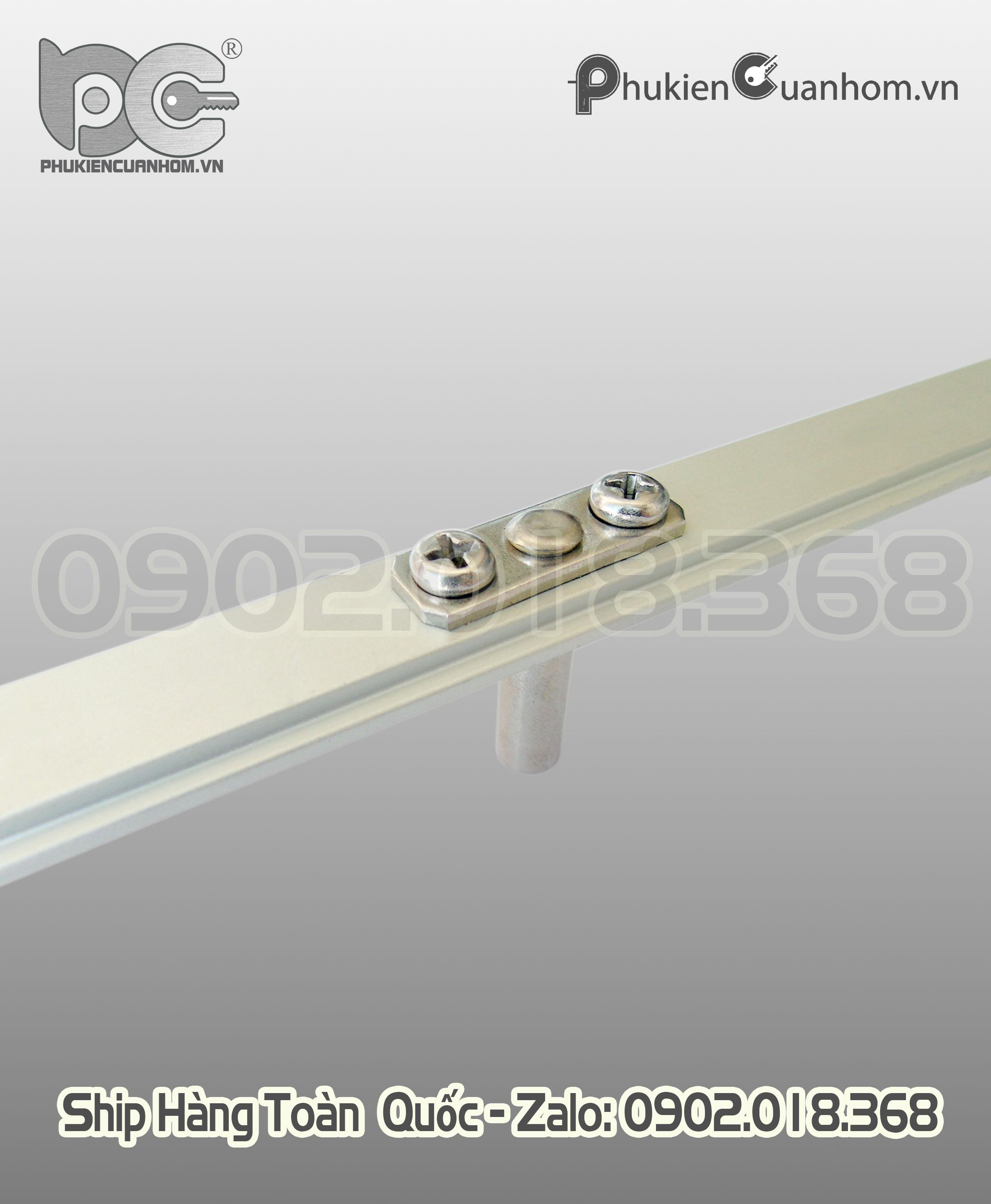 Thanh đa điểm cửa sổ mở nhôm Xingfa hệ 55 dài 400mm LZDC01-400