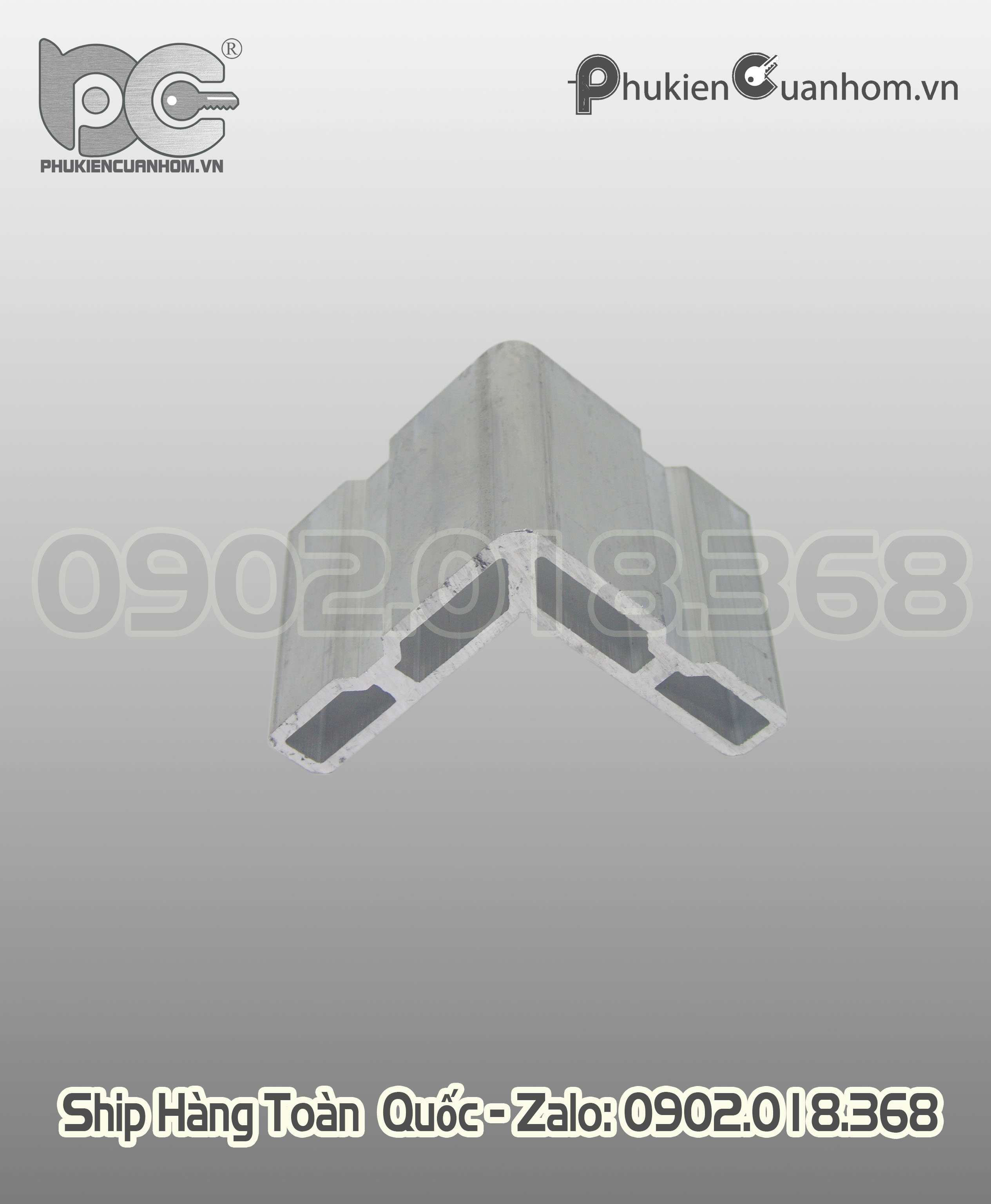 Ke ép góc vách kính nhôm Xingfa hệ 55 C3209