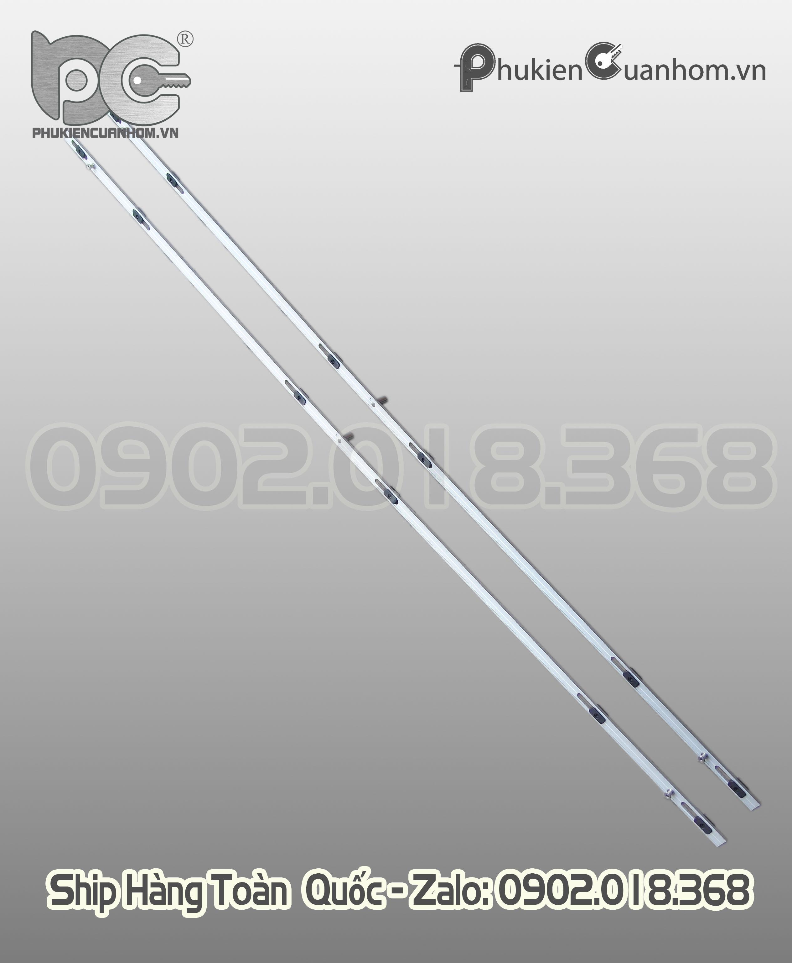 Thanh đa điểm cửa lùa nhôm Xingfa dài 1200mm TLG01-1200