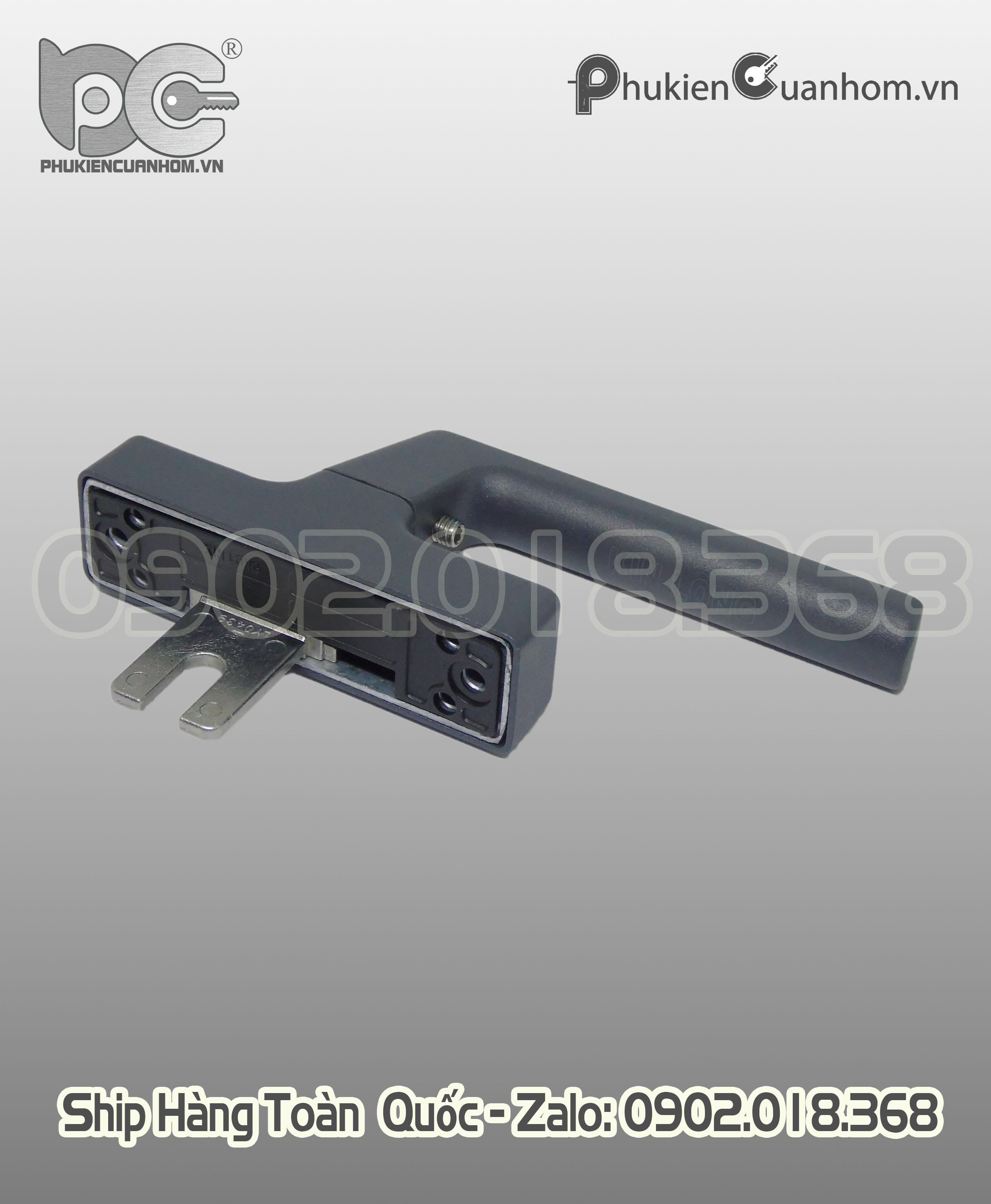 Tay nắm cửa sổ mở quay màu xám ghi hiệu KinLong chính hãng - CZS320 xám ghi