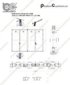Hướng dẫn sản xuất cửa xếp trượt nhôm Xingfa hệ 63