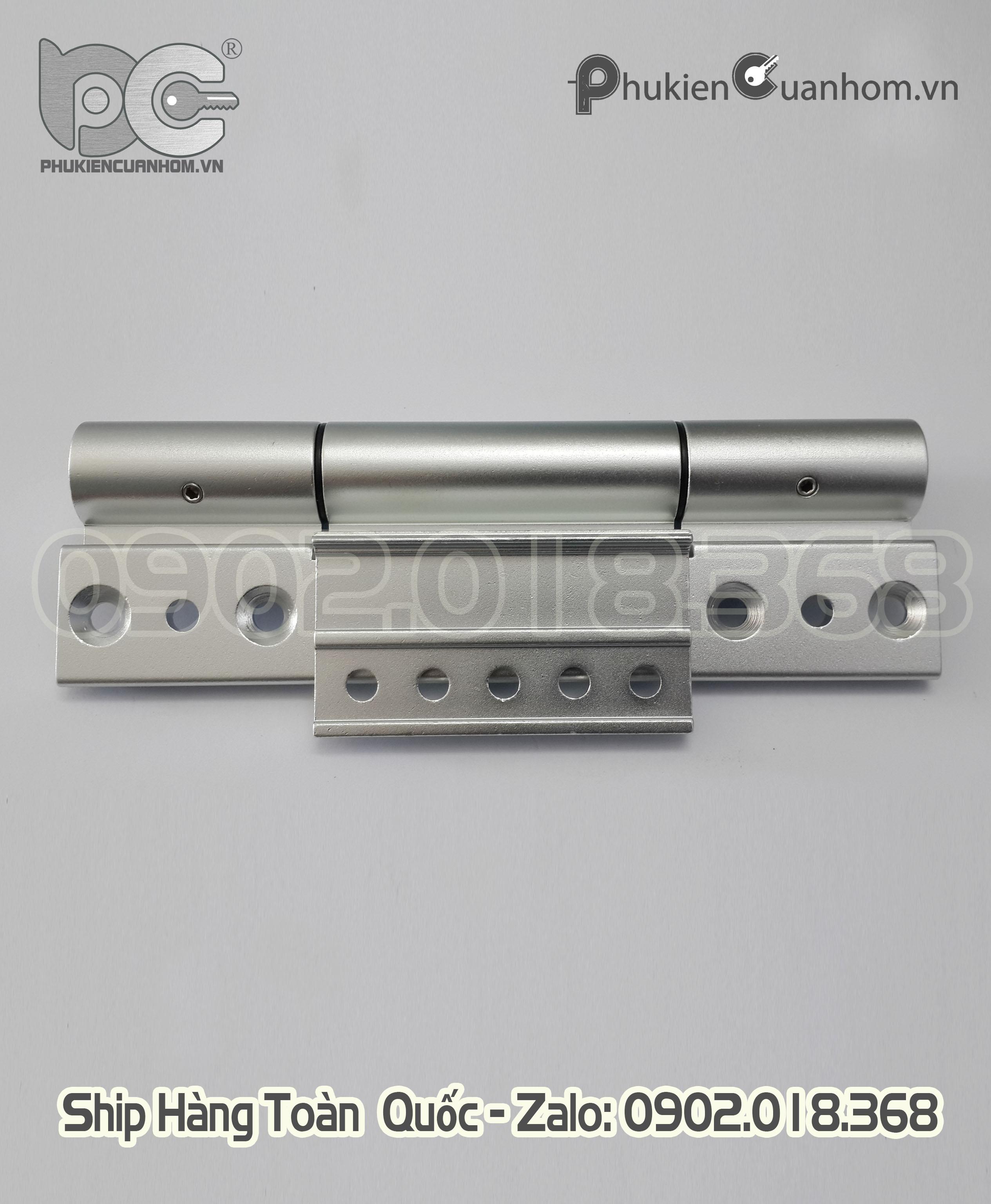 Bản lề 4D hiệu HMA cánh và khung bao nhôm Xingfa hệ 55 - màu bạc