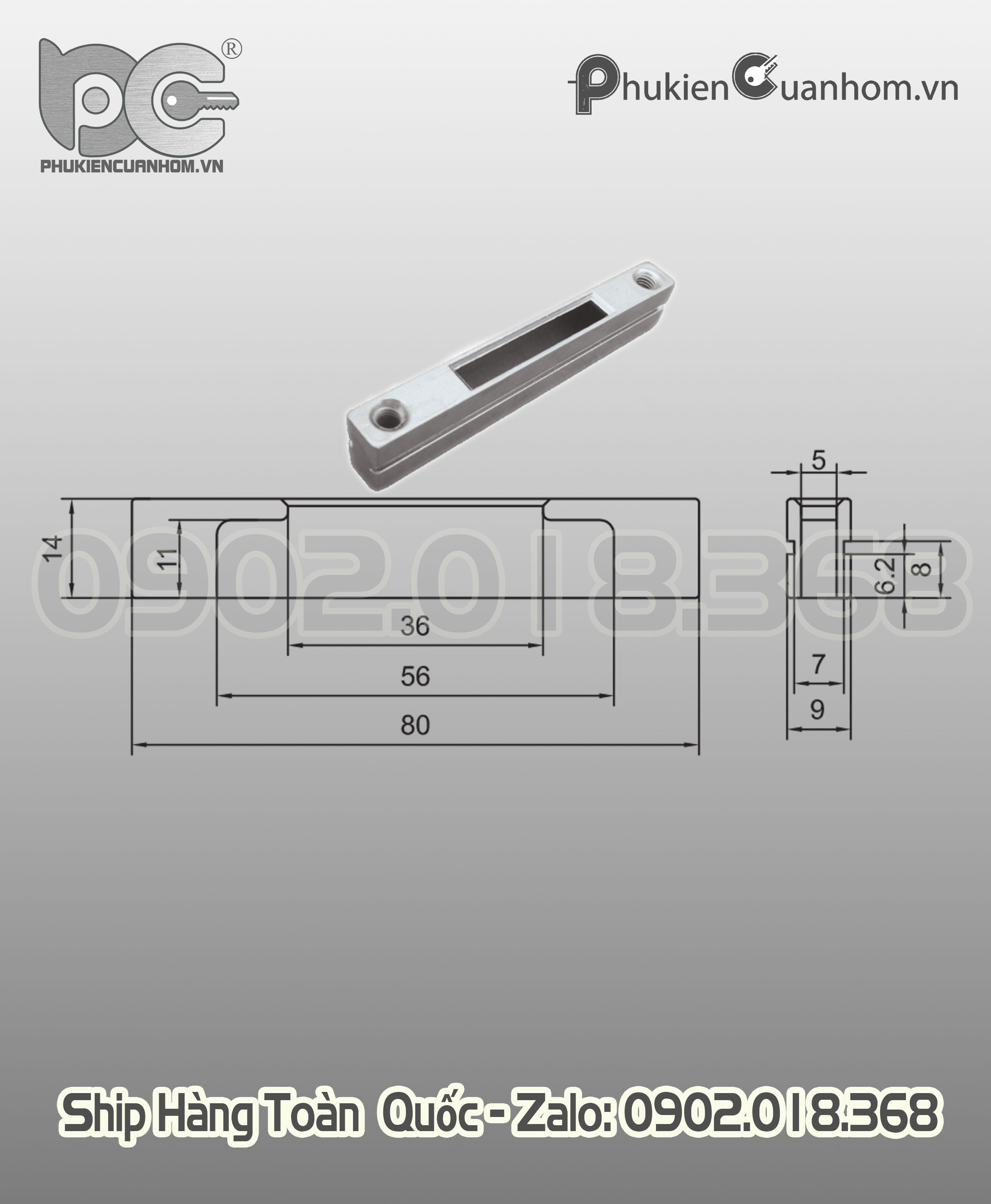 Hảm khóa cửa lùa hiệu KinLong chính hãng - TLK-14