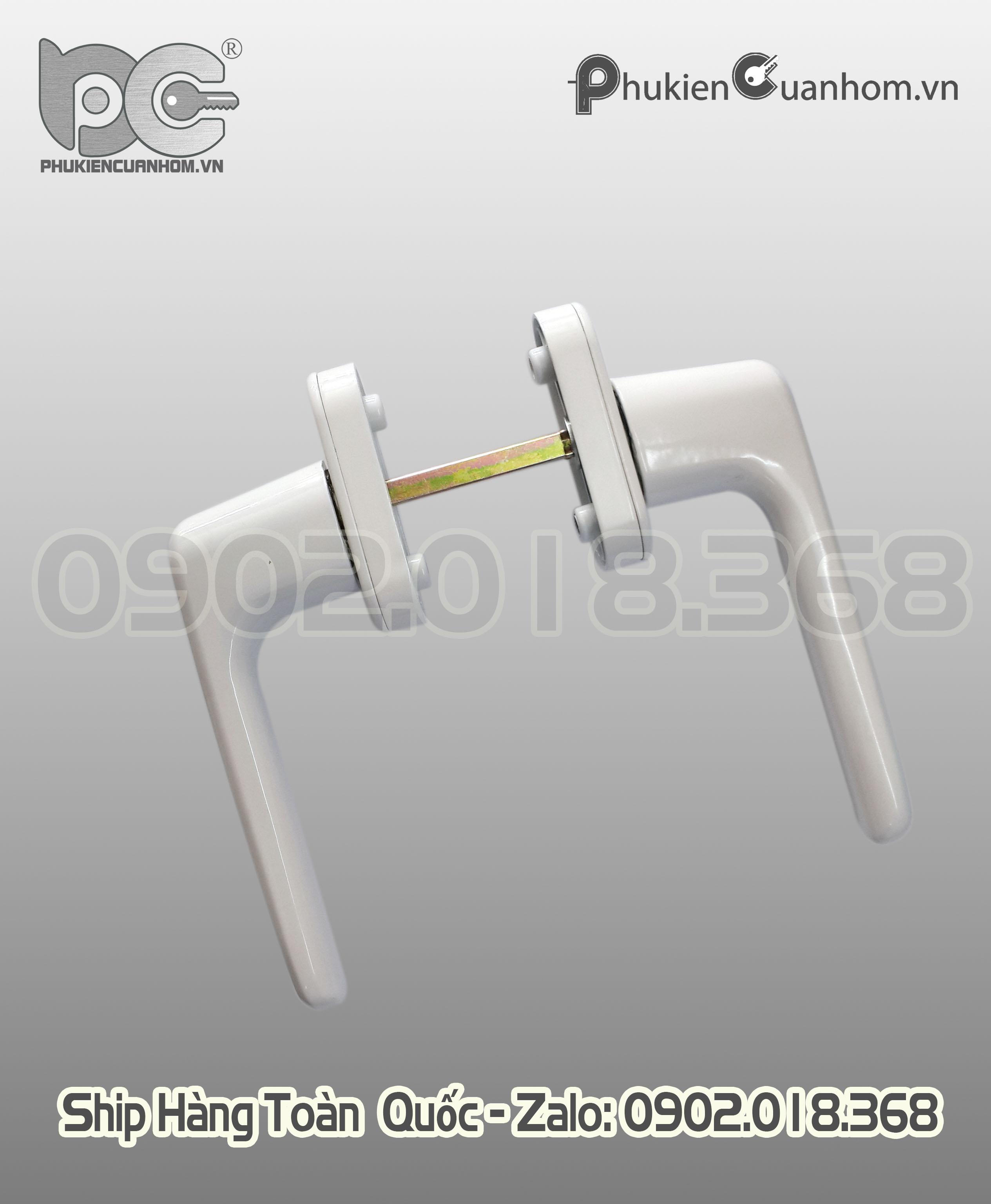Tay nắm khóa đa điểm có chìa cửa lùa nhôm Xingfa hệ 93 và 55 - CZ26C
