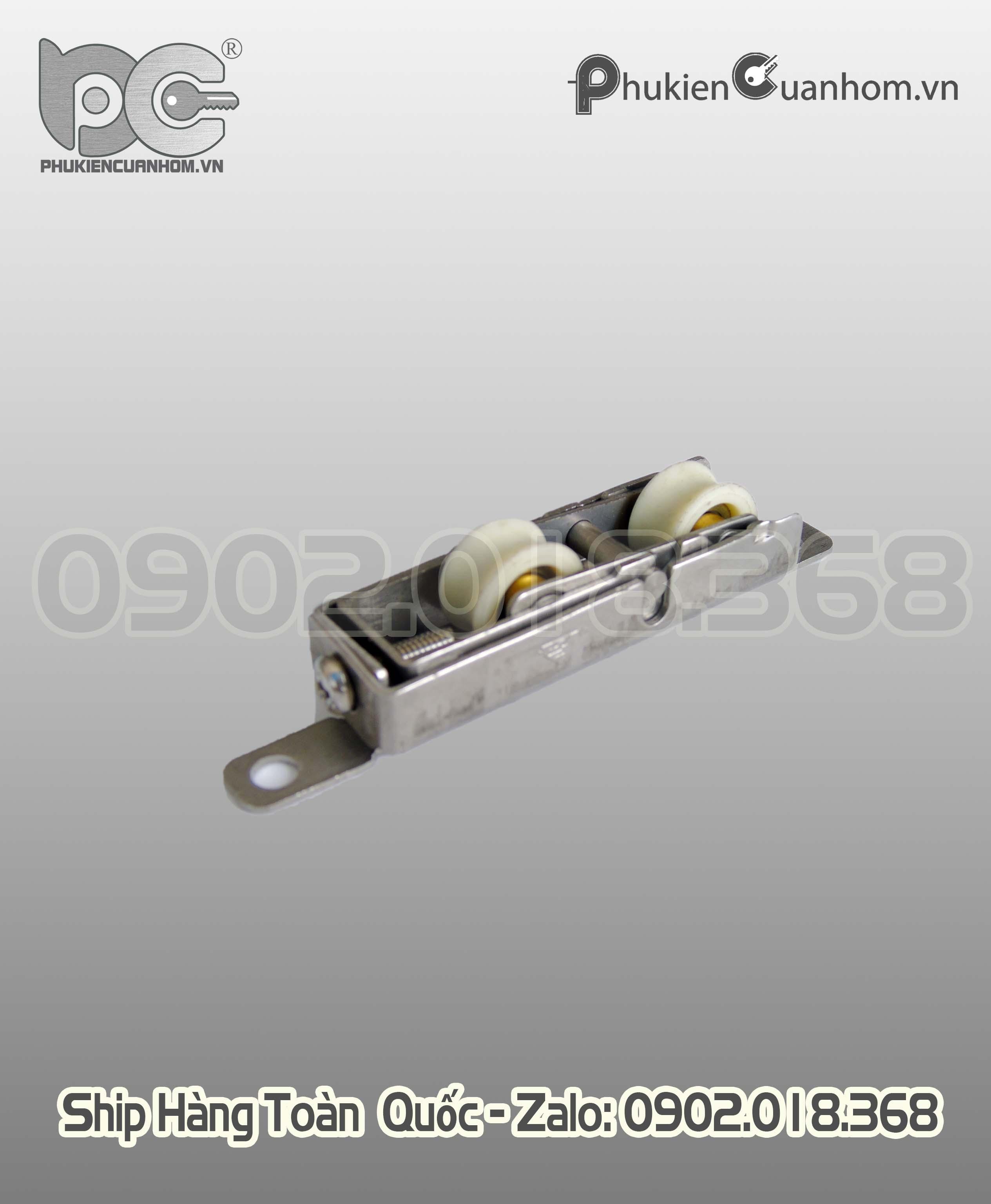 Bánh xe đôi không dập cửa lùa nhôm Xingfa hệ 55 hiệu GQ