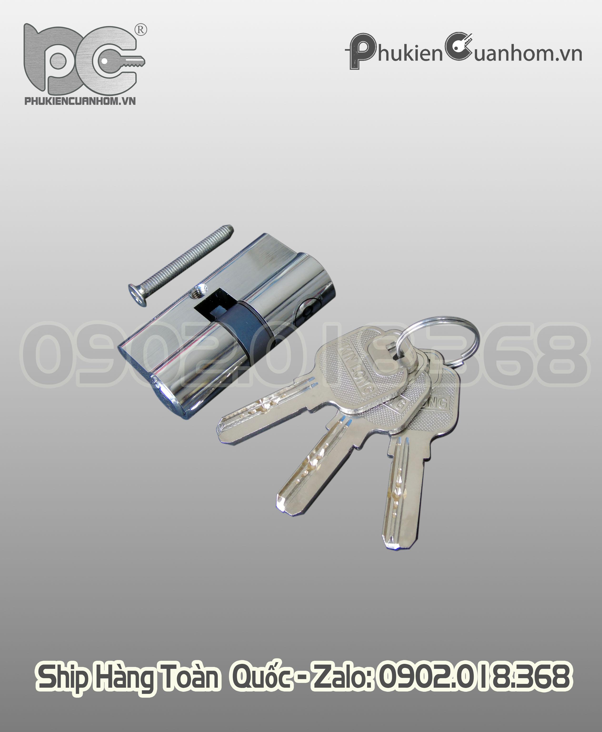Khoá chữ P có chìa cửa đi lùa hiệu KinLong chính hãng