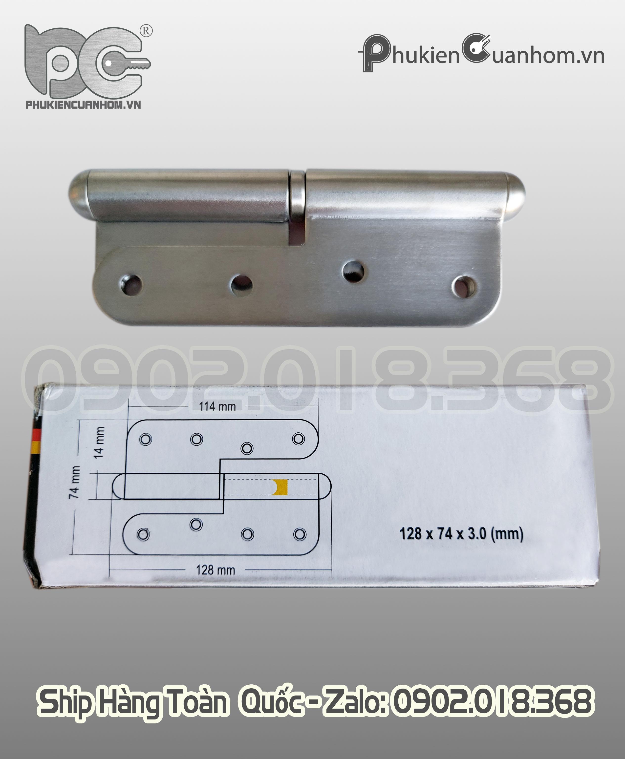 Bản lề cối Inox 304 hiệu Huy Hoàng - BLCSS304-04