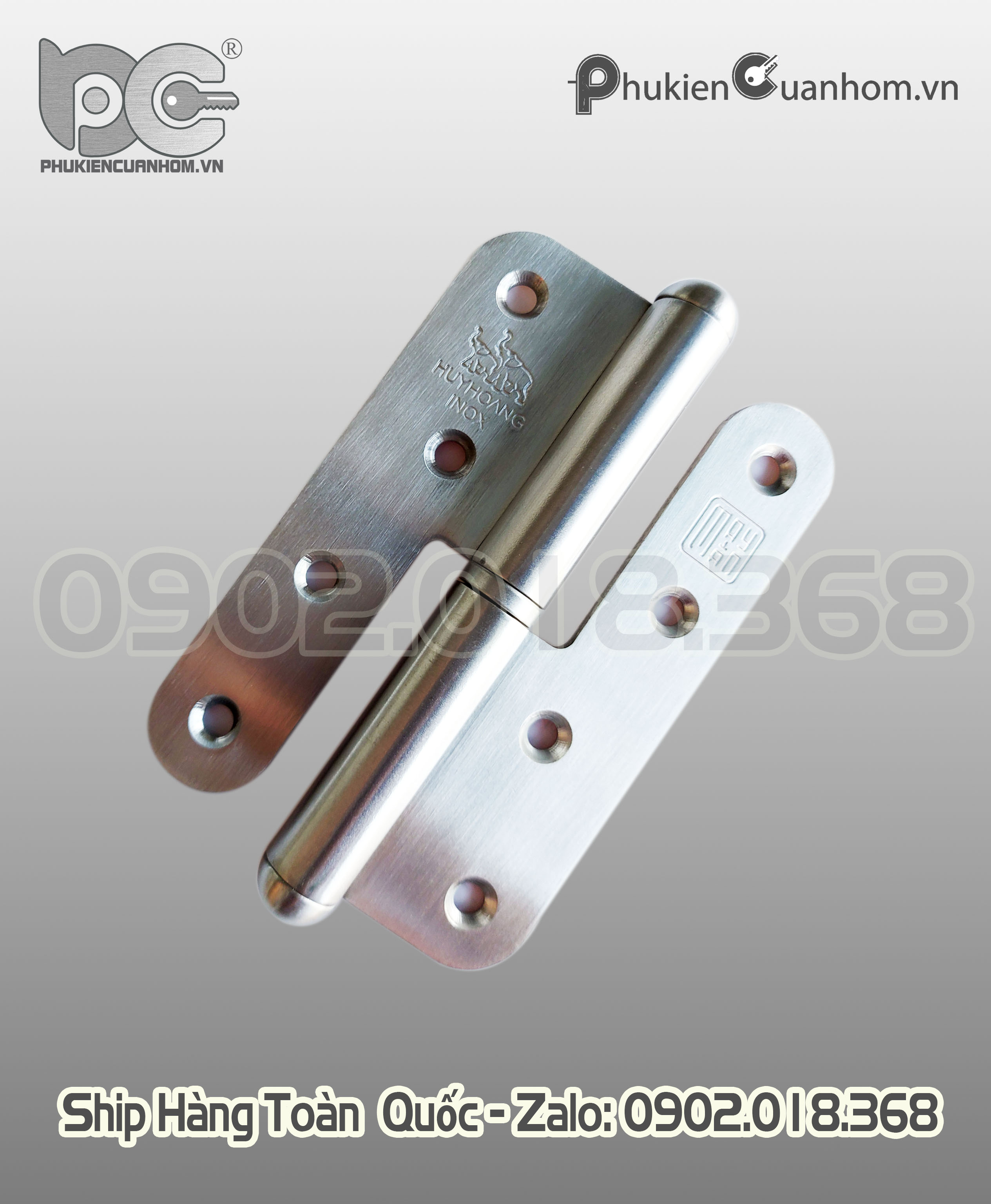 Bản lề cối Inox 304 hiệu Huy Hoàng - BLCSS304-01 140x85x3mm